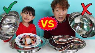구미 VS 진짜 음식 먹방 대결 Eating Show | LimeTube