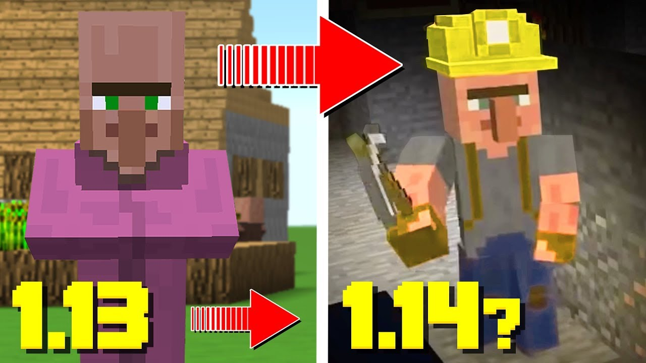 New Villagers In Minecraft 1 14 Minecraft News Update Youtube