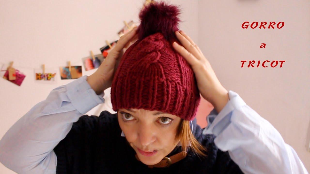2bdca467fd639 Cómo hacer ochos en un gorro de lana I Hat Tricot I Cucaditas de saluta