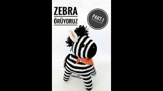 Örgü zebra yapımı - PART1 Bacaklar