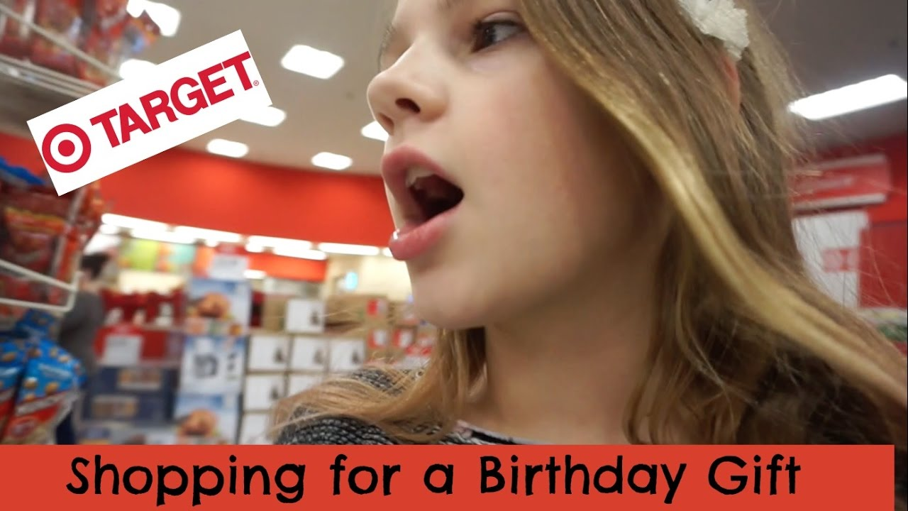 Shopping At Target For A Birthday Gift