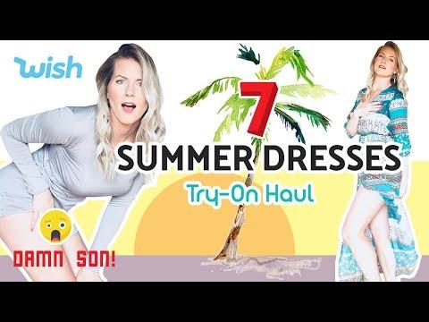 SUMMER DRESS HAUL   I Spent $207 On Wish.com