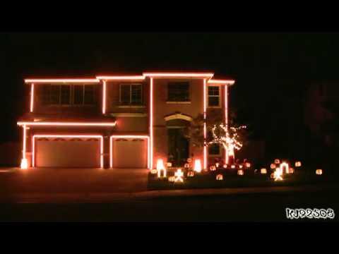 Halloween la casa mejor adornada luces youtube - La casa de la mampara ...