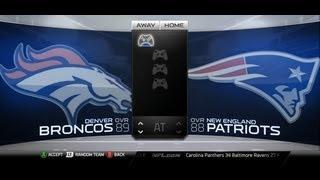 Madden NFL 25 New England Patriots vs Denver Broncos