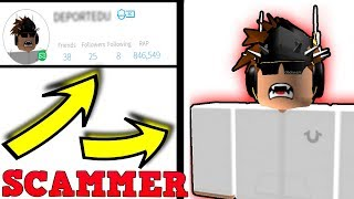 HE Scams EVERYONE IN ROBLOX...*STAY AWAY FROM HIM*