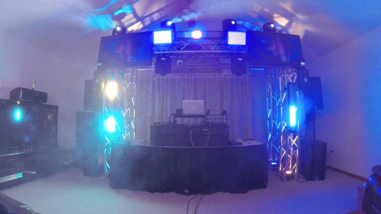 & Mobile DJ light setup 2014 - YouTube