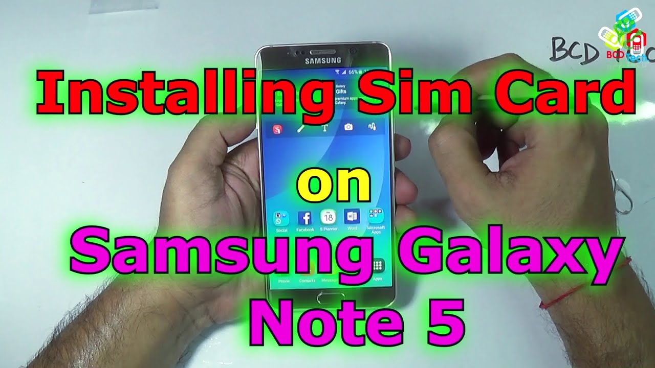 how to get a sim out of a note 5