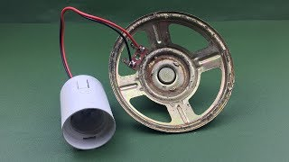 Free Energy Experiments Electric With Light Bulb Using Speaker Magnet