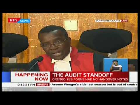 Chief Justice David Maraga takes charge of his Court in Presidential petition