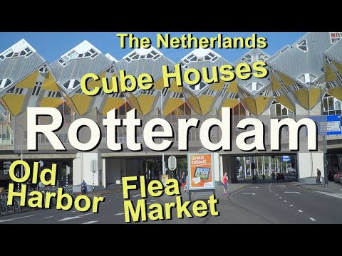 Rotterdam, Blaak Market, Cube Houses, Old Harbor, Netherlands