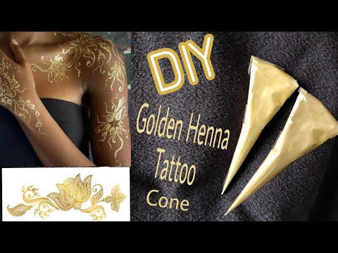 Diy How To Make Golden Henna Tattoo Cone At Home Latest Diy Youtube