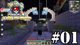 Minecraft Pixelmon: Lenda dos Campeões #01 - O Começo de Aprendizados