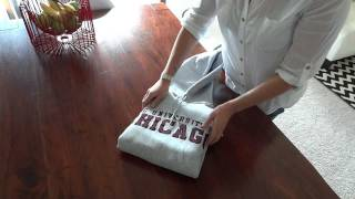 organize: how to fold a hoodie