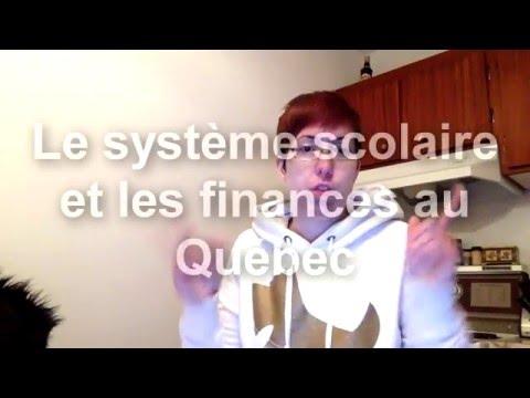 SPEECH : Système scolaire et les finances au Québec
