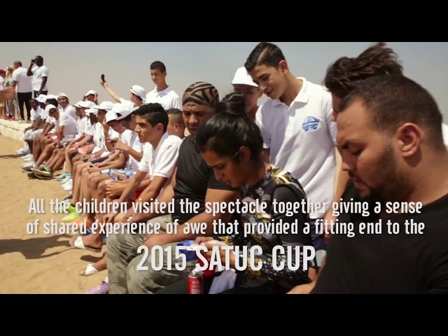 SATUC Cup 2015 teams, visit's to Wonders of the Worldشيخه ال ثاني