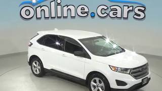 C98980NC Used 2016 Ford Edge SE AWD SUV White Test Drive, Review, For Sale