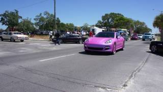 black beach weekend 2k17 miami pink porsche panamera on forgi s