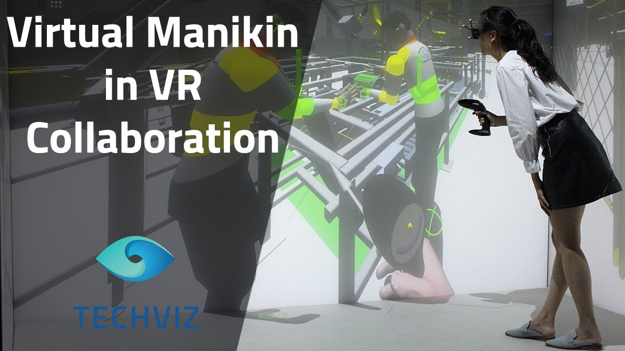 d466ba7d740 Virtual Manikin in VR Collaboration  interact with the Manikin with various  people in real time. TechViz Showroom