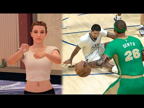 NBA 2k17 MyCAREER - 2Ktv Interview with New Girlfriend! Ankle Breaker Put Him To Sleep! Ep. 74