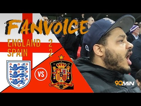 England 2-2 Spain | Isco and Aspas goals late on see England draw with Spain | 90min Fanvoice