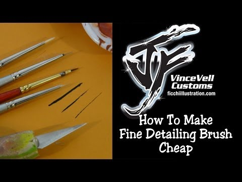 How to make a Fine Detailing Paint Brush cheap