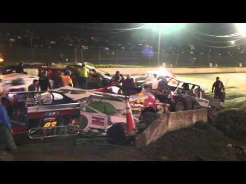 Orange County Fair Speedway 4/30/2011 Big Block Feature wreck