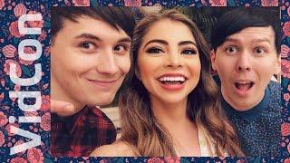DanIsNotOnFire & AmazingPhil! VIDCON 2016 | Mikayla Snow