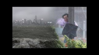 颱風在香港 - 最新鏡頭令人震驚 HD
