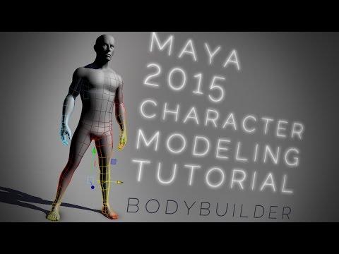 Maya bodybuilder CHARACTER MODELING tutorial thumbnail