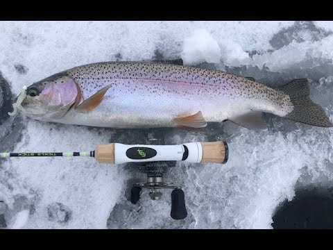 East Canyon Ice Fishing For Rainbow Trout