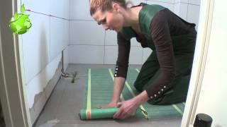 Quickheat-Floor Basic installatie in Badkamer