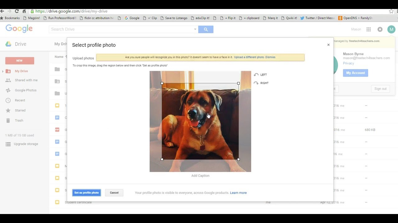 How to Change Your Google Profile Picture - YouTube