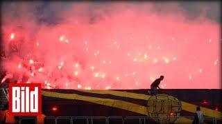 Bengalos, Raketen und Fast-Abbruch bei FC Lok Leipzig vs BSG Chemie Leipzig