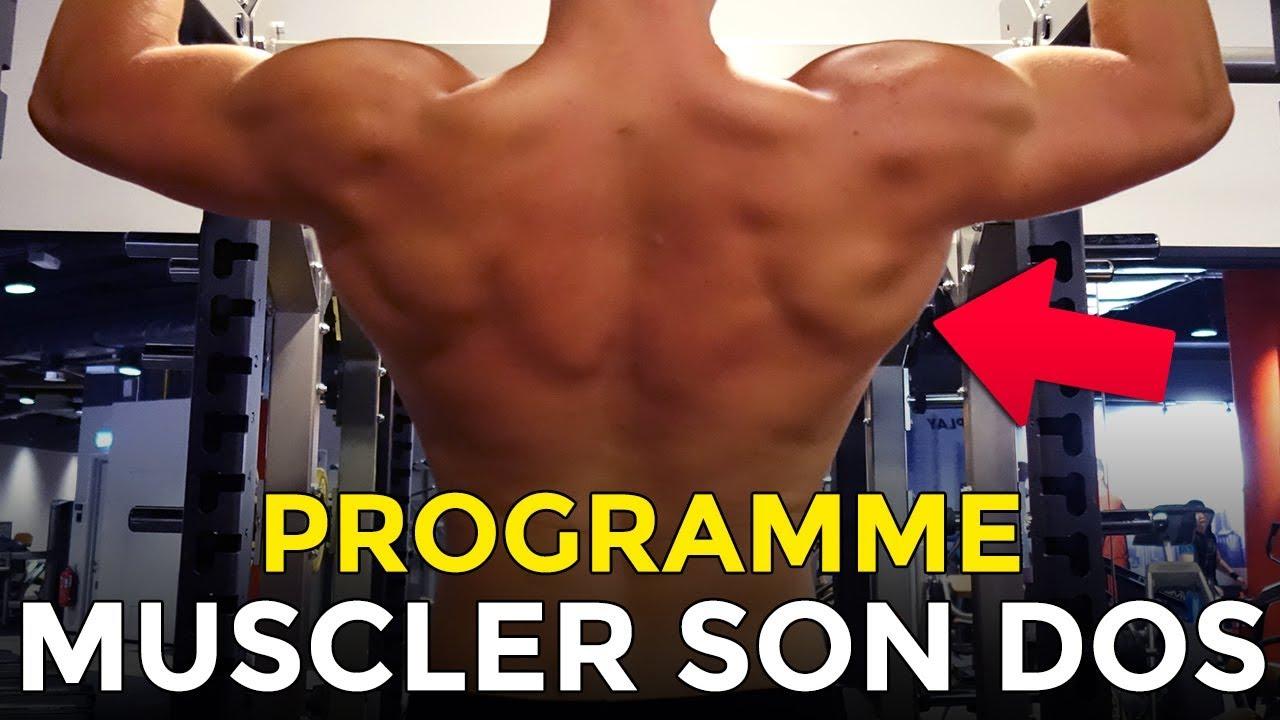 PROGRAMME 5 EXERCICES POUR MUSCLER SON DOS AVEC LA MUSCULATION - YouTube