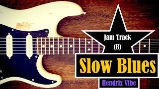 slow blues jam backing track // hendrix vibe (b)