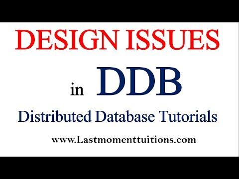 Design Issues in Distributed database  Hindi | Distributed database tutorials