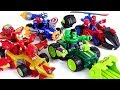 Run! Marvel Mashers micro Hulk, Spier Man, Iron Man, Captain America super cars! - DuDuPopTOY