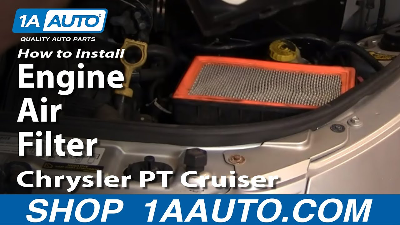 How To Install Replace Engine Air Filter Chrysler Pt Cruiser 01-05 1aauto Com