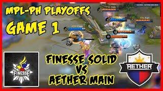 Naging Halimaw si Karl sa Gusion! Finesse Solid vs Aether Main | MPL PH Season 2 Playoffs