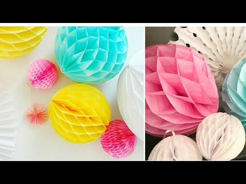 How to make a Paper Honeycomb Ball | DIY Paper Crafts 2019
