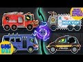 Umi Uzi   patterns for children with scary vehicles   learn opposites   Halloween special videos