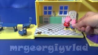 Свинка Пеппа. Пеппа играет с Джорджем в прятки