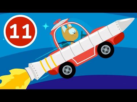 РАКЕТА - Котёнок и волшебный гараж - Мультфильм для детей малышей про машинки и космос
