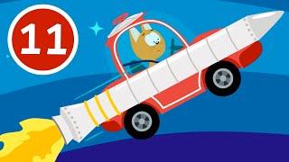 РАКЕТА Котёнок и волшебный гараж Мультфильм для детей малышей про машинки и космос