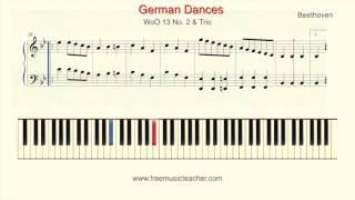 Beethoven German Dances, WoO 13 No  2 & Trio