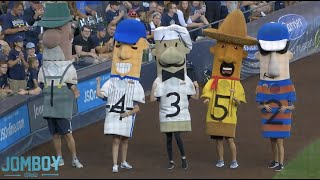 German sausage wins the sausage race, breakdown