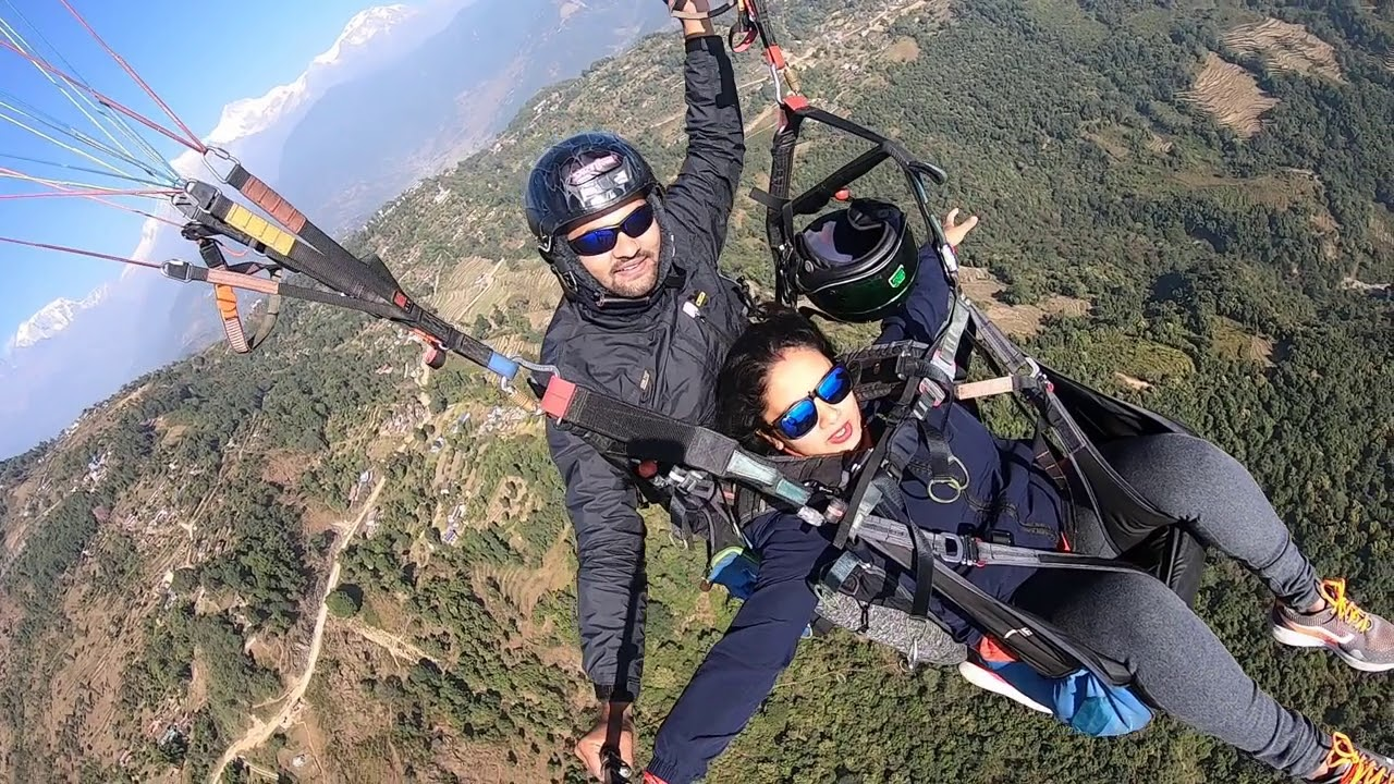 Paragliding myself in the sky of Pokhara(adventure experience in Nepal)