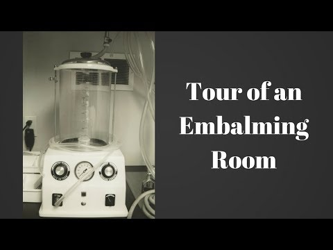 Embalming room tour by a funeral director