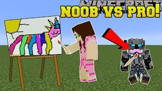 Minecraft: NOOB VS PRO!!! - PIXEL PAINTERS! - Mini-Game