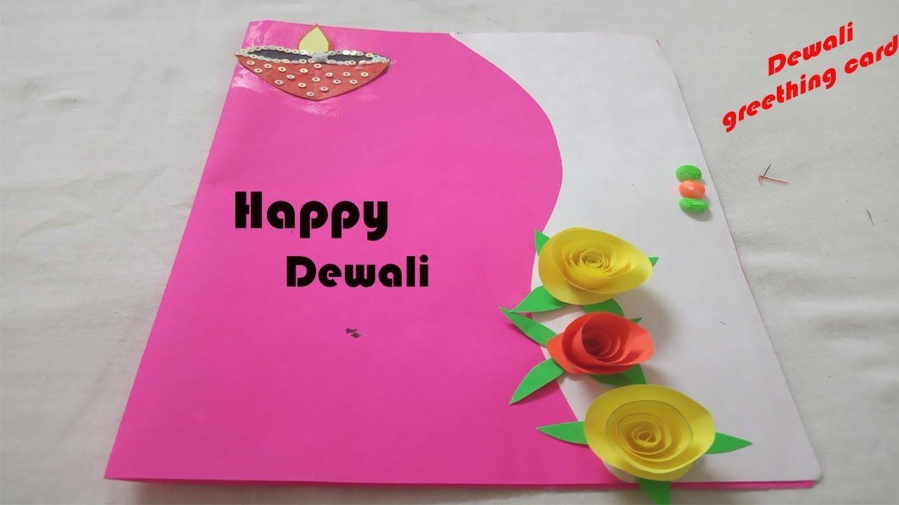 diy diwali greeting card  how to make greeting card for